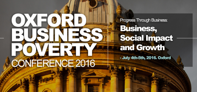 Conference on Business and Poverty – July 5th, 2016